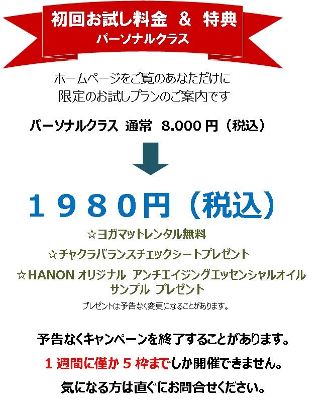 160704 初回お試しパーソナル1980円