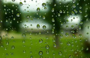 梅雨 レンズに雨