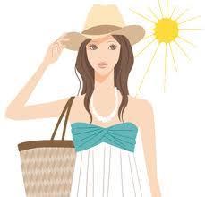 170502 日傘 帽子 女性
